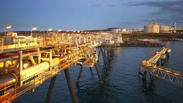 Woodside's Pluto LNG plant in Western Australia.