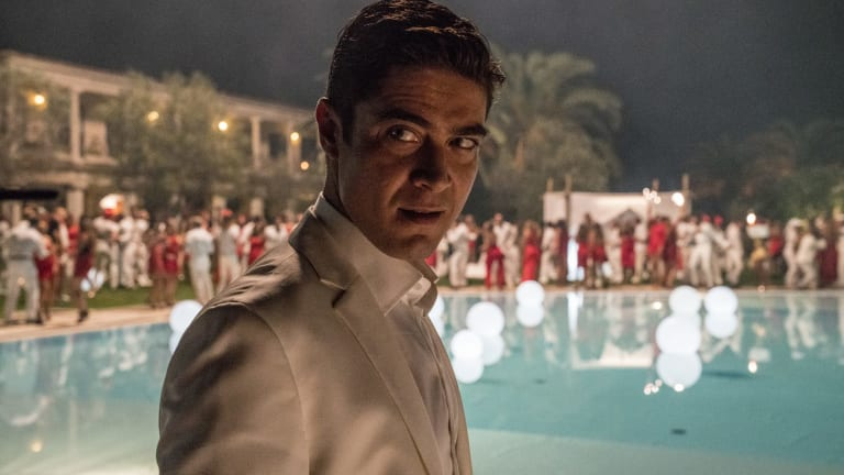 Riccardo Scamarcio as Sergio Morra, who rents a villa opposite Berlusconi's waterfront estate in Sardinia.