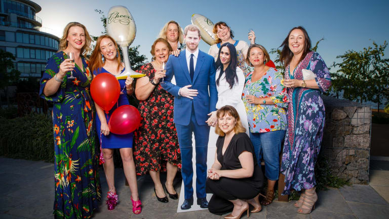 Linda Butler, Kristen Henry, Janine Vickers, Karinda Moffitt, Jessica Kirsopp, Georgia Totter, Julie Hope and Kylie Wilson are heading to the UK for the wedding of Prince Harry and Meghan Markle.