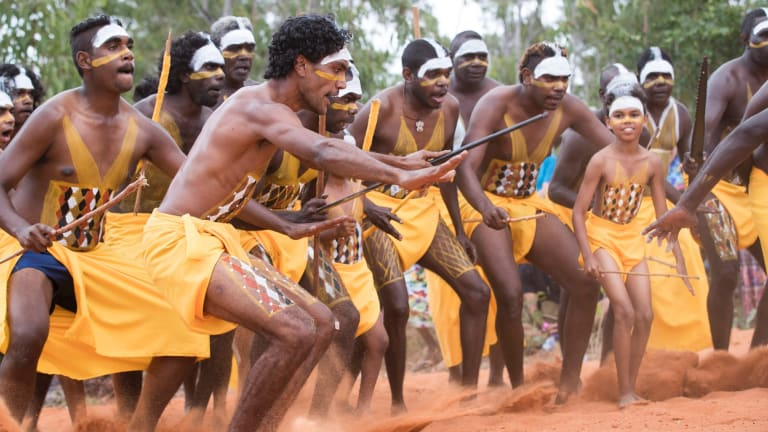 Dancers from the Gumatj clan during the Garma Festival in northeast Arnhem Land