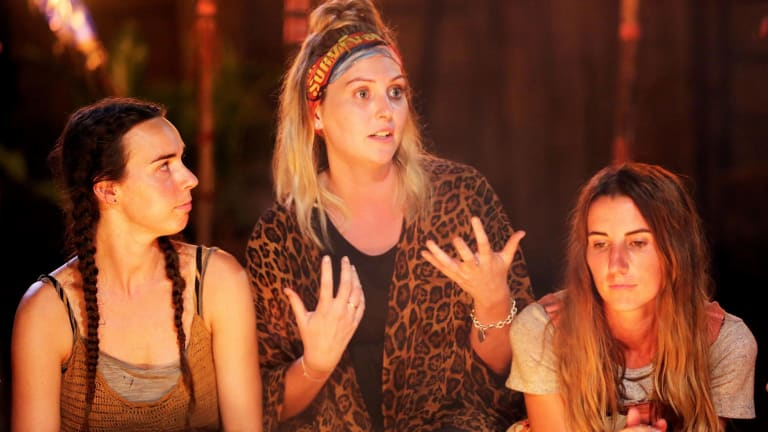 Canny casting: Saanapu tribe at a tribal council after Des is voted out.