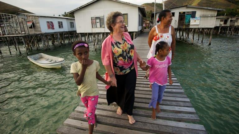 Dame Carol Kidu at her home village in Port Moresby in 2011.