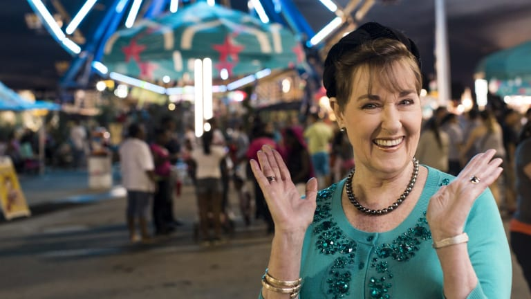 Sugar rush: Kerry Vincent at Oklahoma's annual Tulsa State Fair, where her Sugar Art Show is a star attraction.