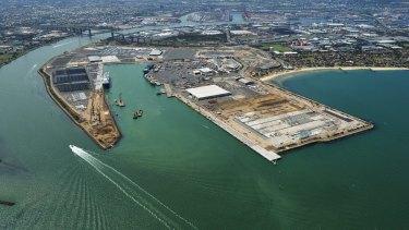Webb Dock when under redevelopment in 2015.