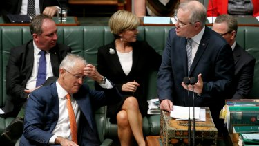 Prime Minister Malcolm Turnbull and Treasurer Scott Morrison on Monday.