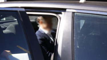 <i>A Current Affair</i> reporter Ben McCormack is arrested by police on Thursday.