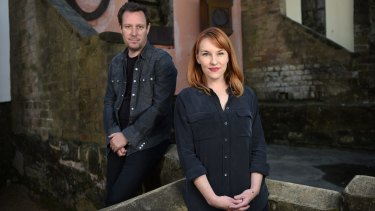 Actor Kate Mulvany and director Peter Evans from the Bell Shakespeare Company's upcoming production of <i>Richard III</i>.