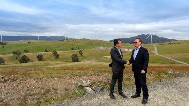 Matthew van der Linden at the Ararat wind farm Flow Power is working with.