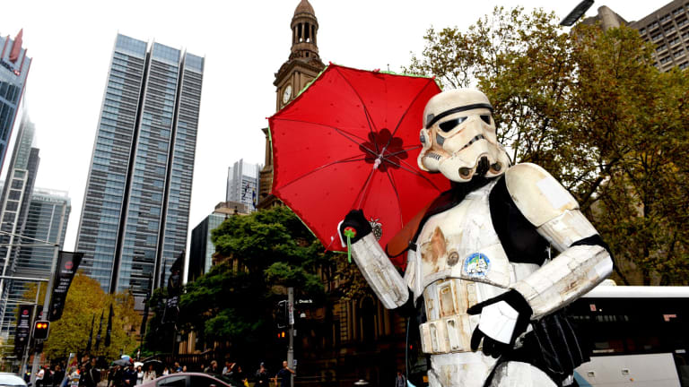 'May the fourth be with you': fundraising sandtrooper celebrates Star Wars day