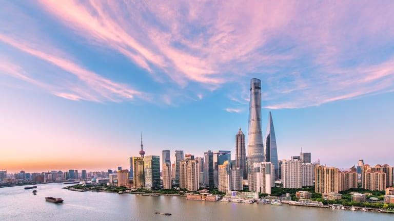 Shanghai Tower dominates the skyline.