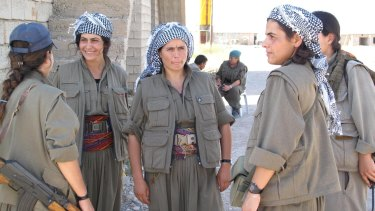 PKK fighters in northern Iraq in 2014.
