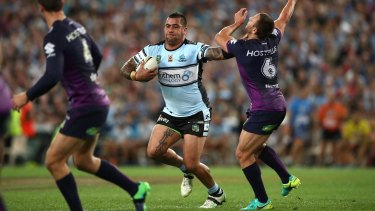 Bulldozer: Andrew Fifita played a key role in the victory.