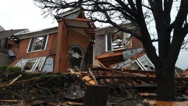 Damage of a house at Rowlett, Texas