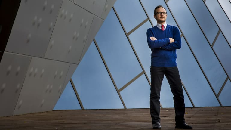 Andrew Sayers in March 2013, when he announced he was leaving the National Museum of Australia.