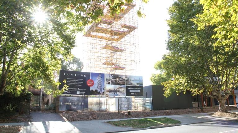 The Lumiere building site.