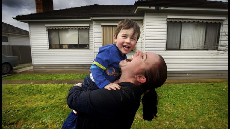 Kate Van Ingen and her son Jakeb.