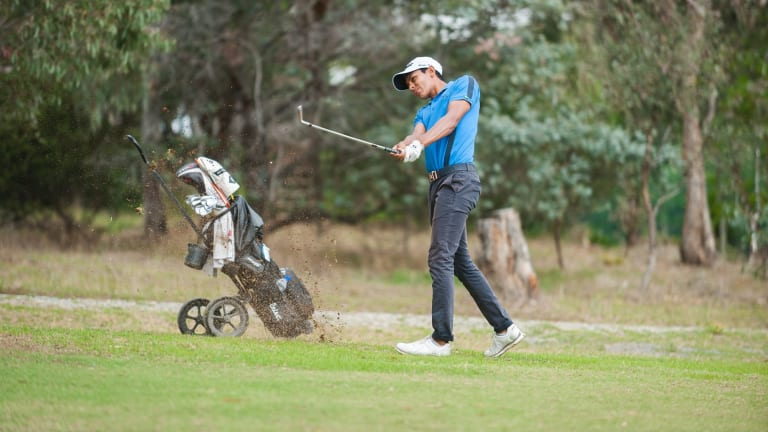 Kiran Day in action at the Federal Amateur Open on Saturday.