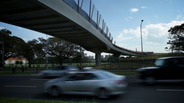 "Under scrutiny: The Albert ""Tibby"" Cotter Walkway over Anzac Parade."