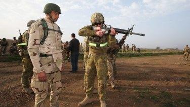 Australians play a key role training Iraqi soldiers.