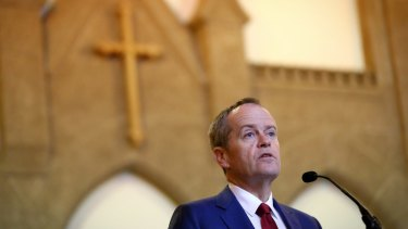Opposition Leader Bill Shorten during the Ecumenical Service to mark the opening of the 45th Parliament.