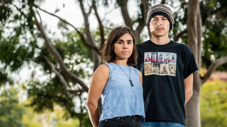 Sick of waiting: Indigenous youth leaders and climate change advocates Amelia Telford and Joseph White-Eyes are fighting for climate justice.