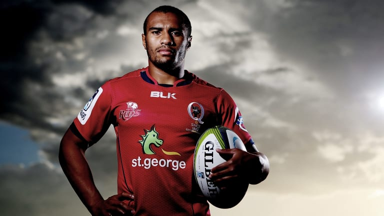 Big week: Reds halfback Will Genia will be back with his wife and baby Olivia on Sunday.