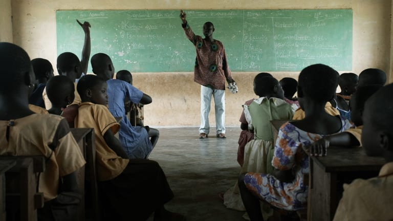One of the three schools of the Kuapa Kokoo organisation in Ghana. Owing to Fairtrade Premium money, the school can provide extra classes in English, science and mathematics.