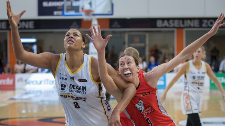 Boomer Liz Cambage has been in frightening form against Perth Lynx.