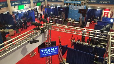 The spin room is packed up after the second US Presidential debate.
