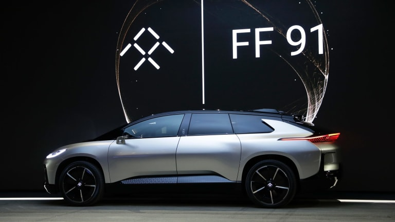 Faraday Future's FF 91 can summon 1000 horsepower and go from 0 to to 60mph (96.5kmph) in 2.39 seconds.