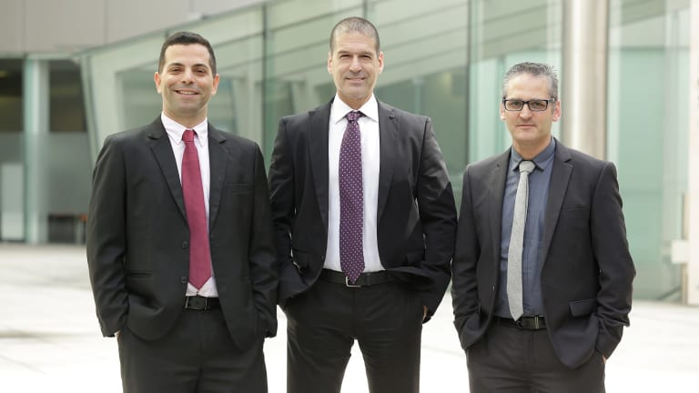 Weebit Nano executives Kobi Ben-Shabat, CEO Yossi Keret and CTO Amir Regev.