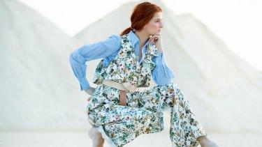 Helena wears Pull Me Back pants, Nevenka $1521; shirt, Once Was; Monet belt, Viktoria & Woods $150.