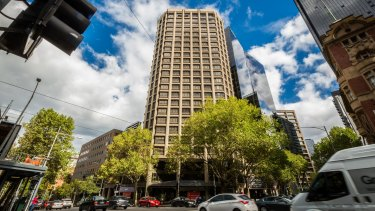 The value of 555 Collins St has been slashed.