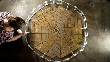 A prototype NASA solar panel array based on Miura fold origami.