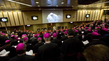 The last day of the synod of bishops at the Vatican. The meeting was deeply divided about reintegration of divorcees into the Church.