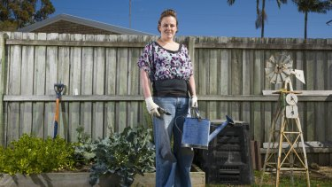 Bedding in: Rochelle Stone started her veggie garden the weekend she moved into her Sunshine Coast home.