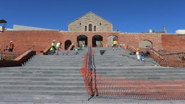 Ulumbarra Theatre, in Bendigo, is near completion, and retains glimpses of the building's former purpose.