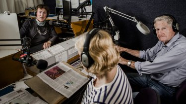 Print handicapped radio station, Radio 1RPH, is losing a quarter of its funding.  From left, Lorraine Litster, Sandra Purser and Bryan Daniell.