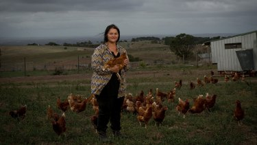 Vesna Luketic on her free range chicken farm in Myrniong.