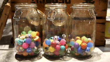 Lolly jars at Portal Cafe.