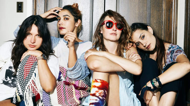 Warpaint (left to right): Stella Mozgawa, Jenny Lee Lindberg, Emily Kokal, Theresa Wayman.