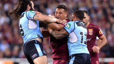 Josh Papalii could shift into Queensland's front-row for Origin II.