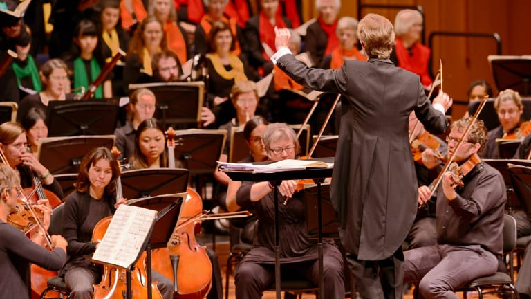Canberra Choral Society conducted by Leonard Weiss. Photo: Robin Eckermann