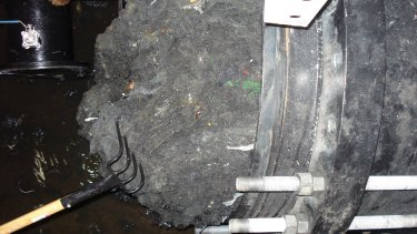"A ""fatberg"" removed five years ago at a wastewater pump station in Munster."