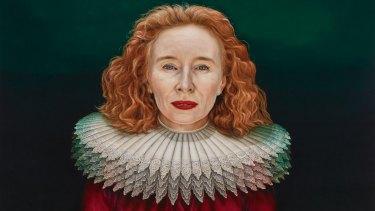 """Archibald Prize 2018 finalist Paul Jackson's """"Alison Whyte, a Mother of the Renaissance""""  (detail)."""