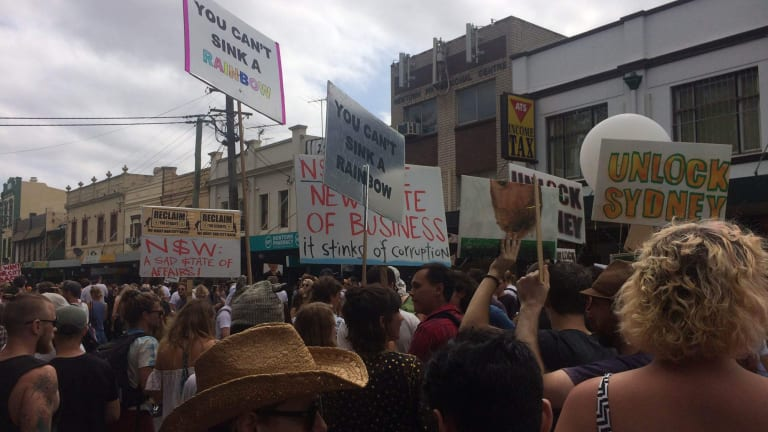 The Reclaim the Streets protest on Saturday.