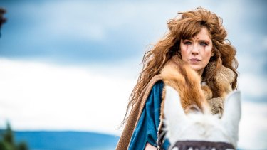 Kelly Reilly as Kerra in <i>Britannia</i>.