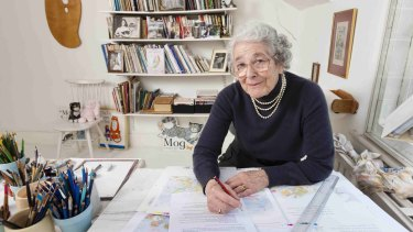 Story time: Judith Kerr, 91, at work in her attic studio at her house in south-west London.
