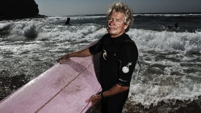 Legend: Midget Farrelly at Avalon Beach in 2012.