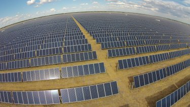 The Moree solar farm in NSW built by Fotowatio Renewable Ventures of Spain with Origin Energy taking its output from April 1.